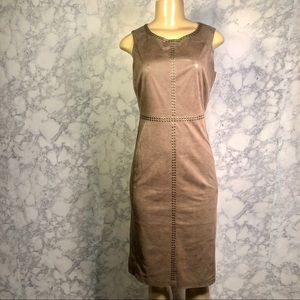 NY&Co 0 Taupe Sequin Lined Sleeveless Dress